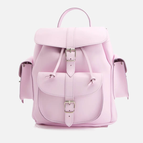 Grafea Women's Medium Leather Rucksack - Powder Pink