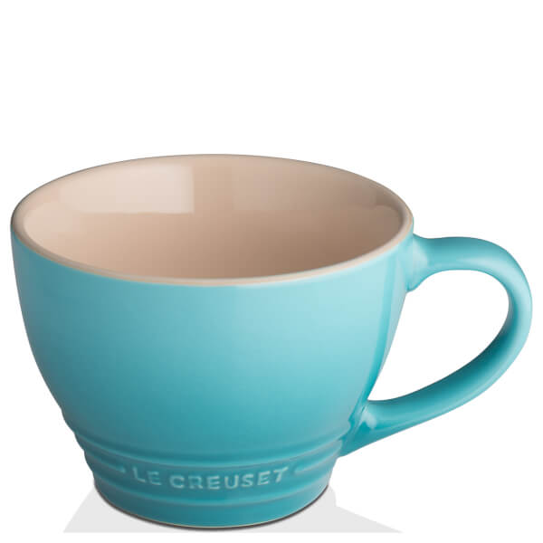 le creuset stoneware grand mug 400ml teal iwoot. Black Bedroom Furniture Sets. Home Design Ideas