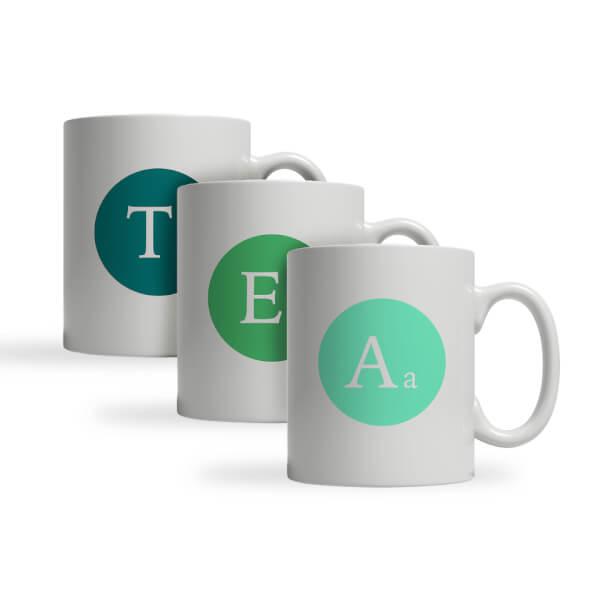 Alphabet Letter Mug