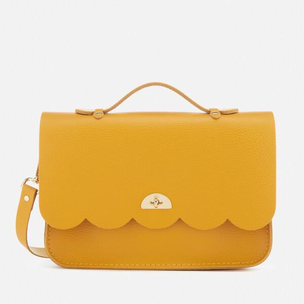 The Cambridge Satchel Company Women's Cloud Bag with Handle - Mustard Celtic Grain