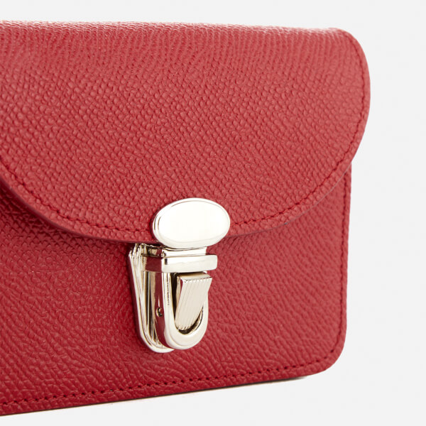 The Cambridge Satchel Company Women s Small Push Lock Purse - Red Saffiano   Image 3 9293a30d6dfe