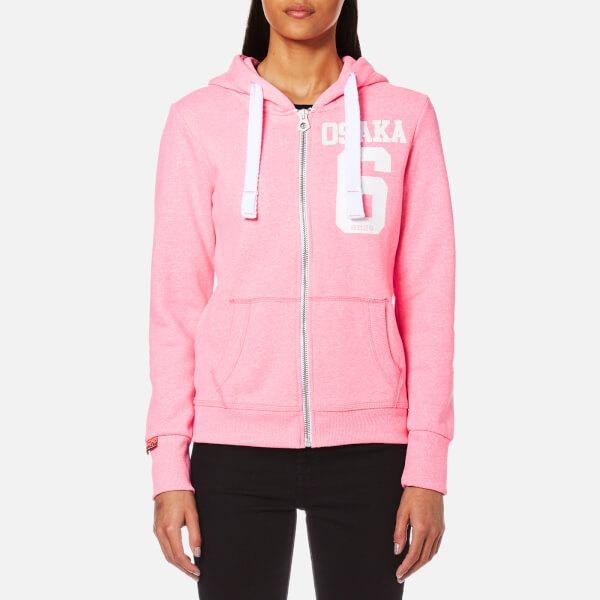 Superdry Women's Osaka 6 Zip Hoody - Snowy Ultra Pink: Image 1