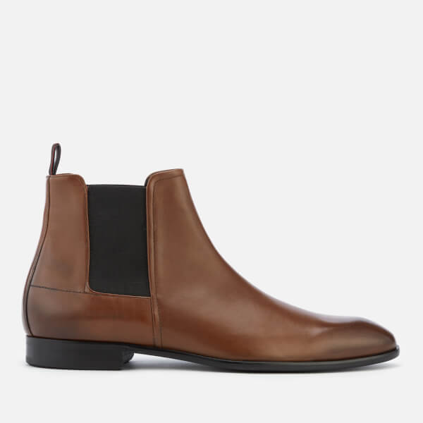 HUGO Men's Dress Appeal Leather Chelsea Boots - Medium Brown