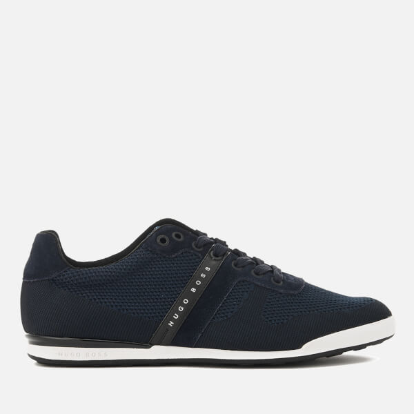 BOSS Green Men's Arkansas Knitted Low Top Trainers - Dark Blue