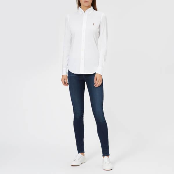 9365cbab8aff7 Polo Ralph Lauren Women s Heidi Skinny Fit Stretch Shirt - White  Image 3