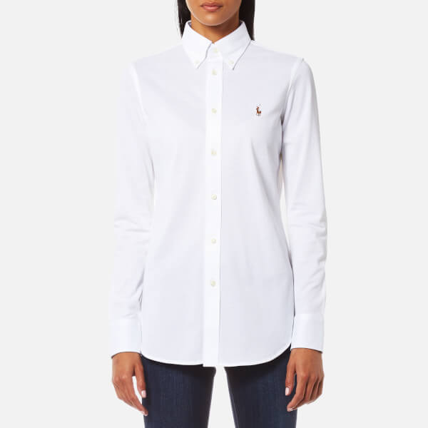 Polo Ralph Lauren Women's Heidi Skinny Fit Stretch Shirt - White: Image 1