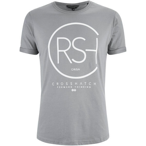 Crosshatch Men's Mumbles Logo T-Shirt - Frost Grey