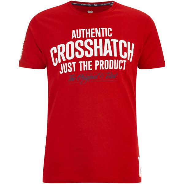 Crosshatch Men's Greendale Sleeve Logo T-Shirt - Barbados Cherry