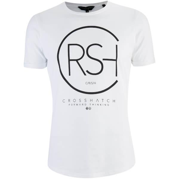 Crosshatch Men's Mumbles Logo T-Shirt - White