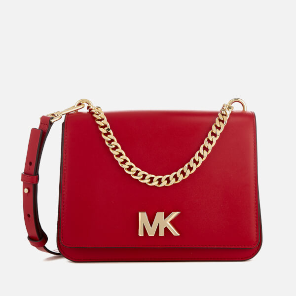 MICHAEL MICHAEL KORS Women s Mott Large Chain Swag Shoulder Bag - Bright Red   Image 1 e0a112895