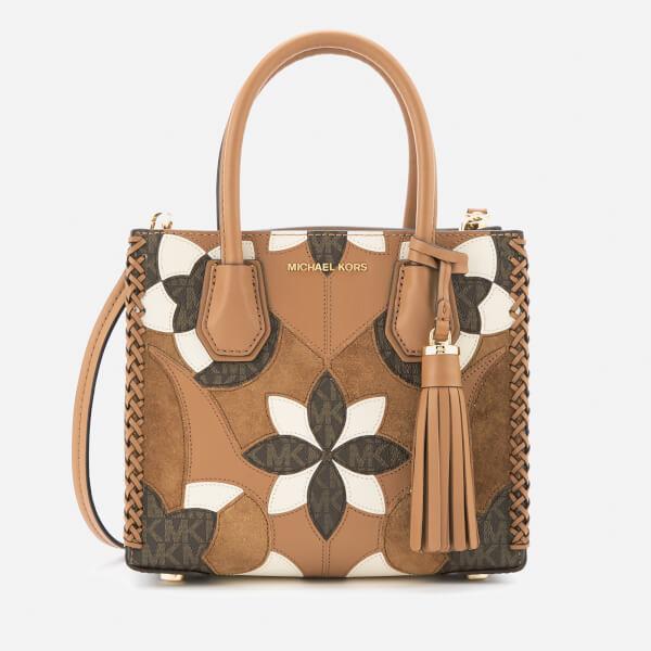 MICHAEL MICHAEL KORS Women's Mercer Patchwork Medium Messenger Bag - Acorn