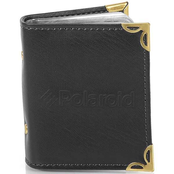 Polaroid Leatherette Photo Album (For 2x3 Inch Film/Paper) - Black
