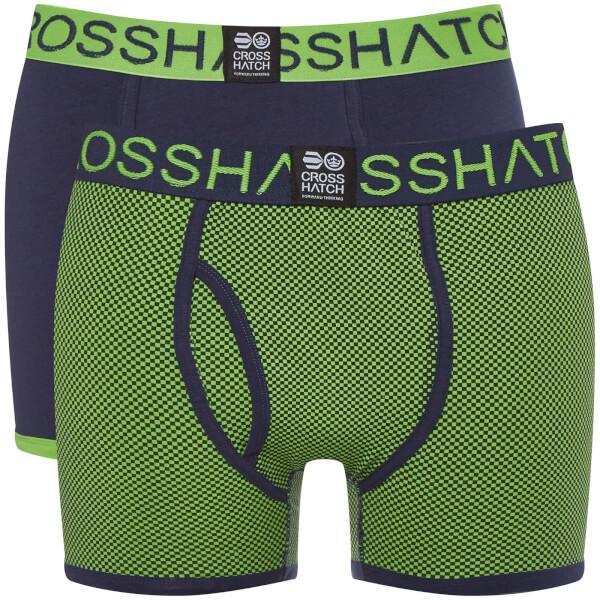 Lot de 2 Boxers Glowchex Crosshatch - Vert