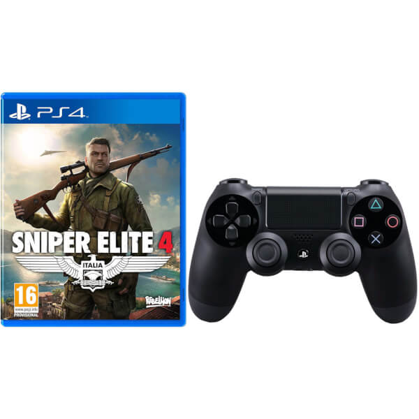 Sniper Elite 4 with Sony PlayStation 4 DualShock 4 Controller Black