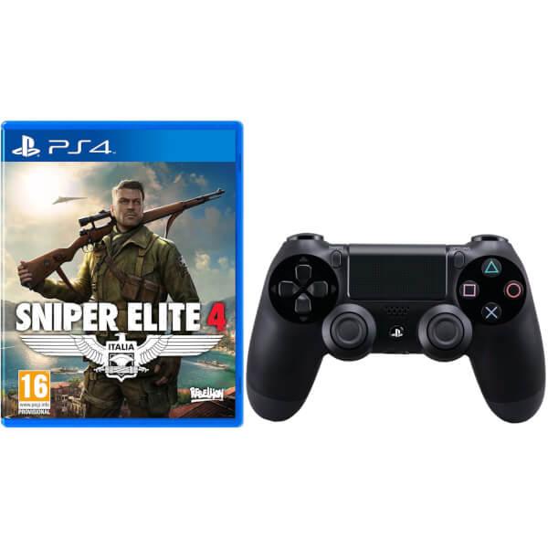 Sniper Elite 4 with Sony PlayStation 4 DualShock 4 Controller Black