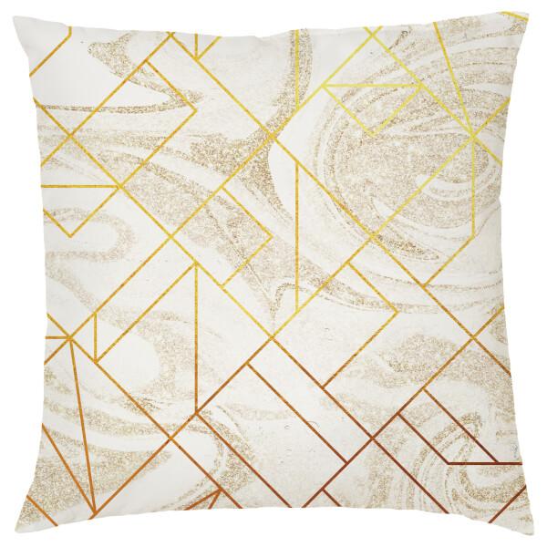 Marble Geometric Cushion - Cream
