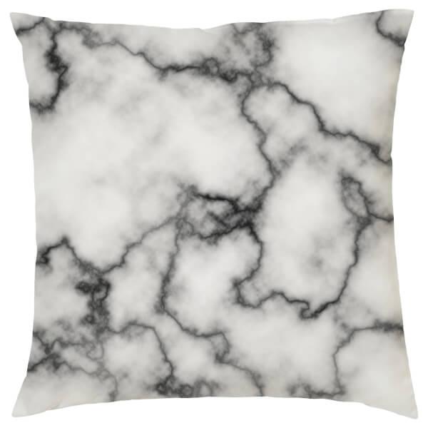 Marble Print Cushion - Grey