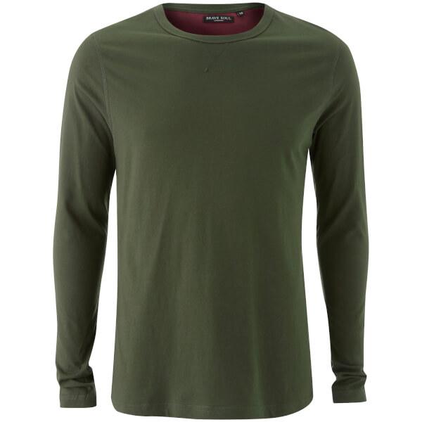 T-Shirt Manches Longues Homme Prague Brave Soul - Kaki