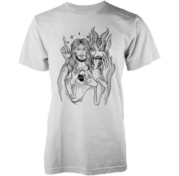 T-Shirt Homme Jésus et le Diable Abandon Ship -Blanc