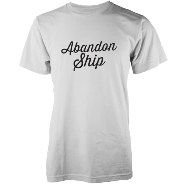 Abandon Ship Men's Classic Logo T-Shirt - White