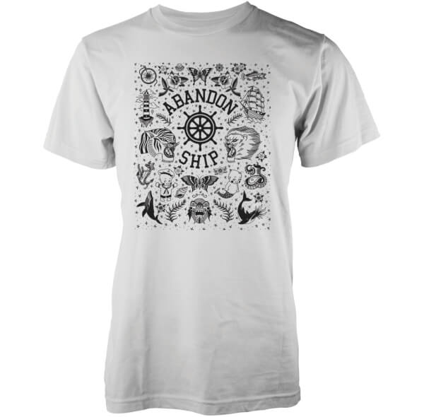 Abandon Ship Men's Wall Flash T-Shirt - White
