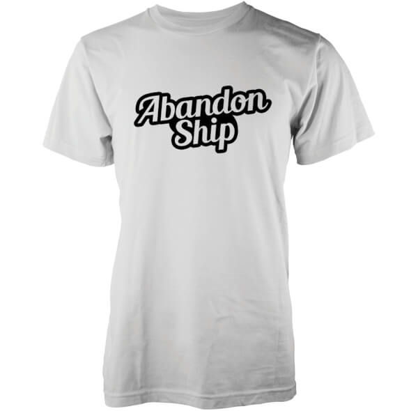 Abandon Ship Men's Bubble Logo T-Shirt - White