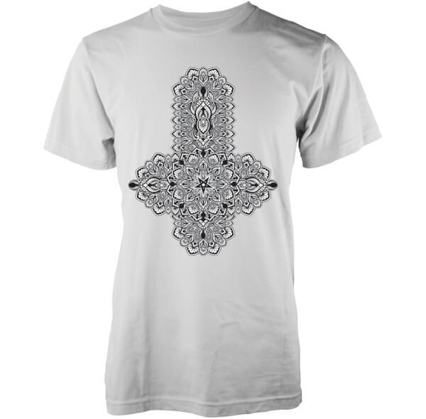 Abandon Ship Men's Floral Black Cross T-Shirt - White