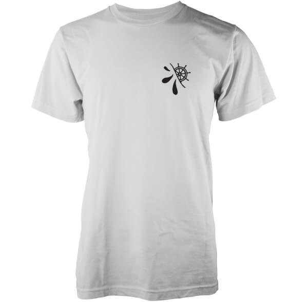Abandon Ship Men's Hidden Wheel Logo T-Shirt - White