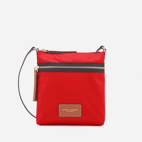 Marc Jacobs Women's Biker North South Nylon Cross Body Bag - Lava Red