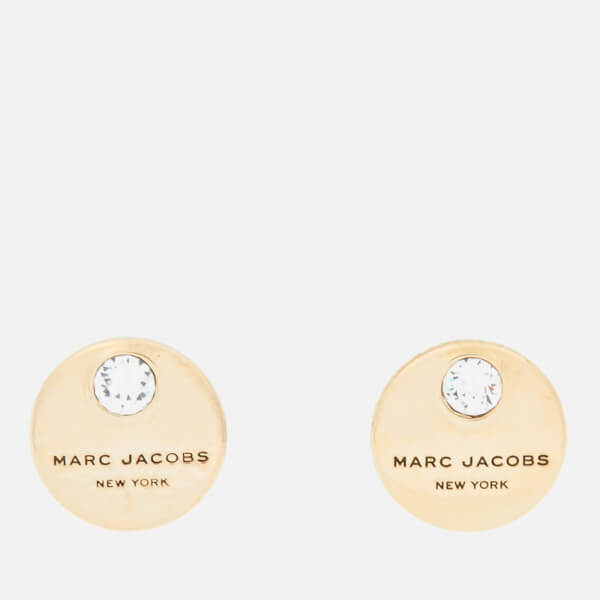 Marc Jacobs Women S Mj Coin Studs Crystal Gold Image 1