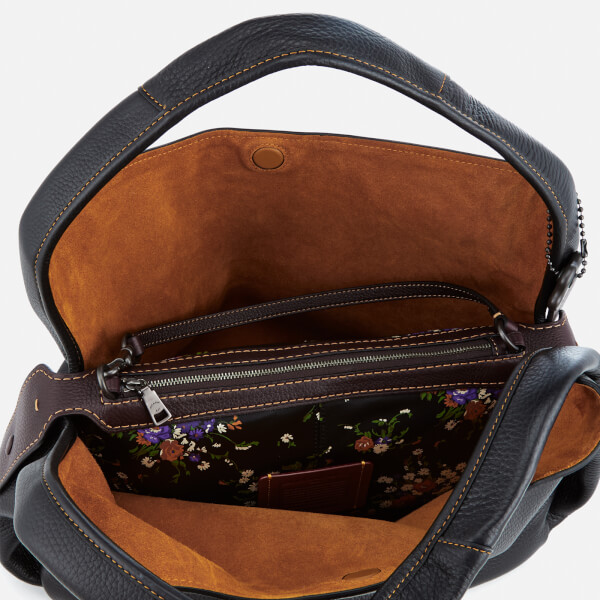 b354faeca6 Coach 1941 Women's Glovetanned Pebble Leather Bandit Hobo Bag - Black:  Image 9