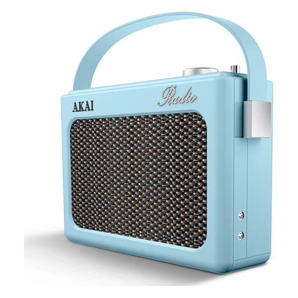 Vintage Portable Screen : Akai retro vintage portable wireless dab radio with lcd
