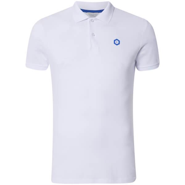 Jack & Jones Men's Core Booster Logo Polo Shirt - White
