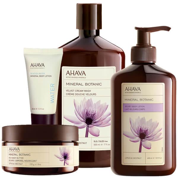AHAVA Lotus and Chestnut Mineral Moment Set