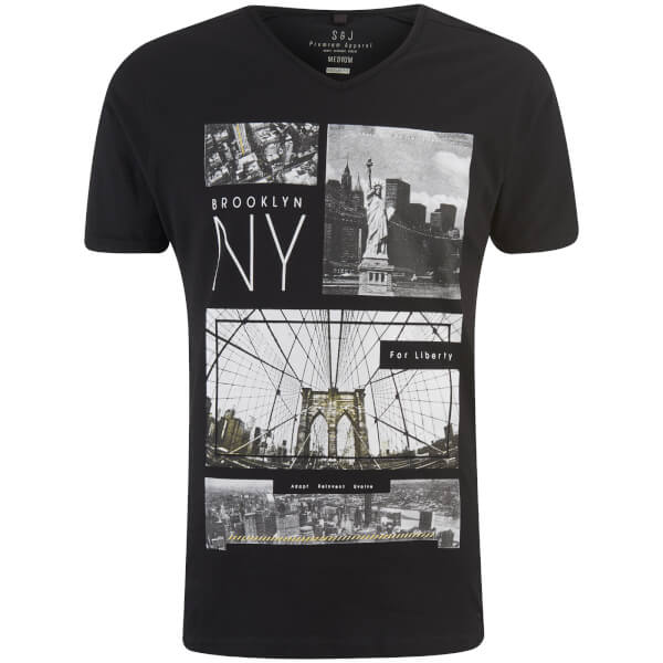 T-Shirt Homme Fibonacci Smith & Jones -Noir