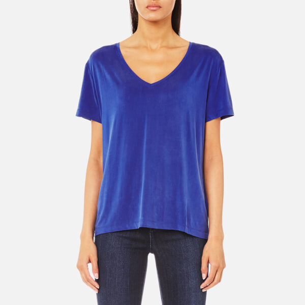 Samsoe & Samsoe Women's Siff V Neck T-Shirt - Surf The Web