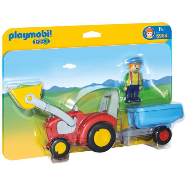 Fermier avec tracteur et remorque (6964) -Playmobil