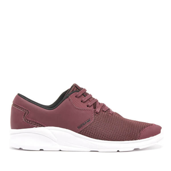 Supra Men's Noiz Trainers - Burgundy/White