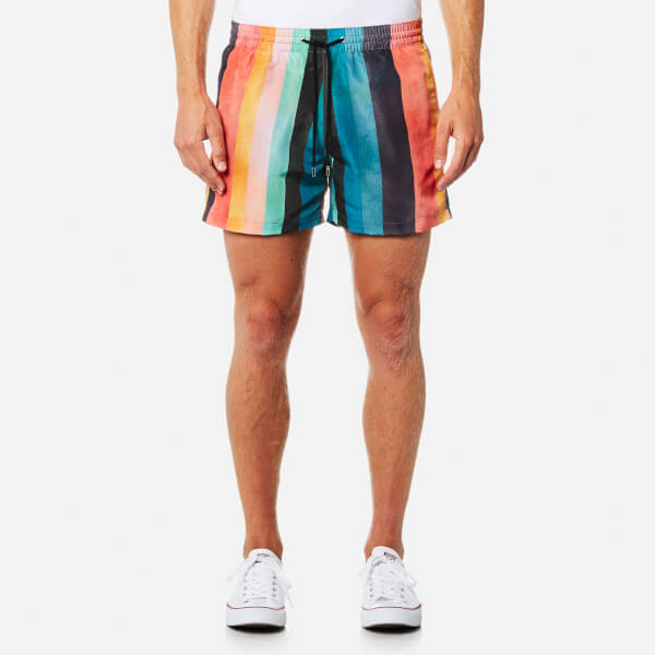 Paul Smith Men's Classic Artist Stripe Swim Shorts - Multi