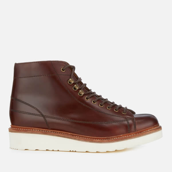 Grenson Men's Andy Leather Monkey Boots - Chestnut