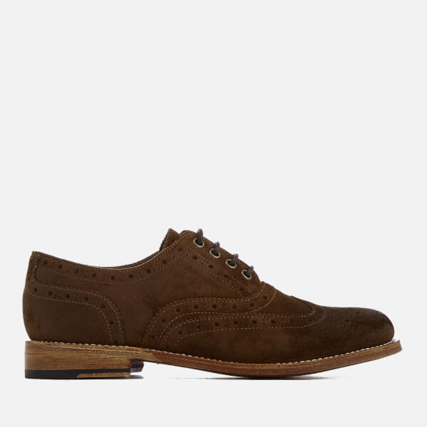 Grenson Women's Rose Burnished Suede Brogues - Snuff