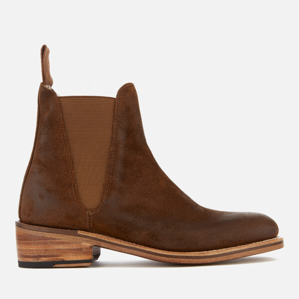 Grenson Women's Nora Burnished Suede Chelsea Boots - Snuff