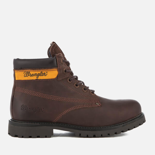 Wrangler Men's Hunter Lace Up Boots - Dark Brown