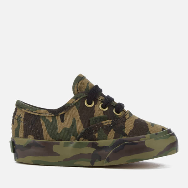 Vans Toddlers' Authentic Mono Print Trainers - Classic Camo