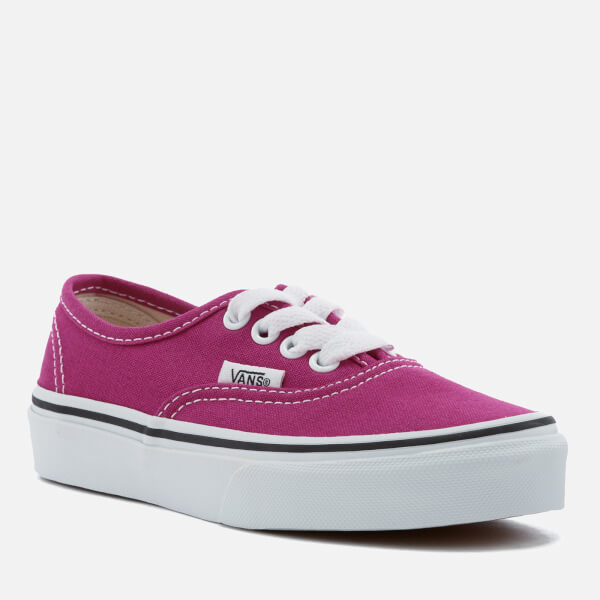 be83db75fc Vans Kids  Authentic Trainers - Very Berry True White  Image 2
