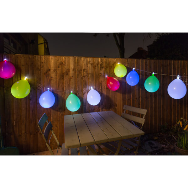 Balloon String Lights - White