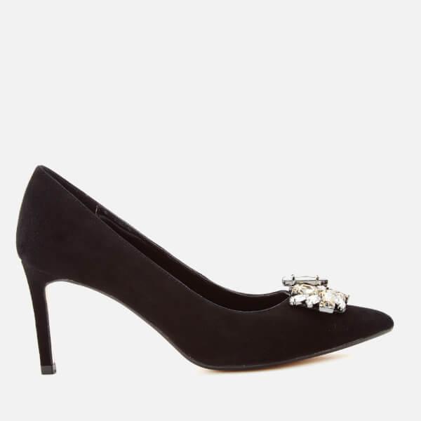 Dune Women's Birch Suede Court Shoes - Black