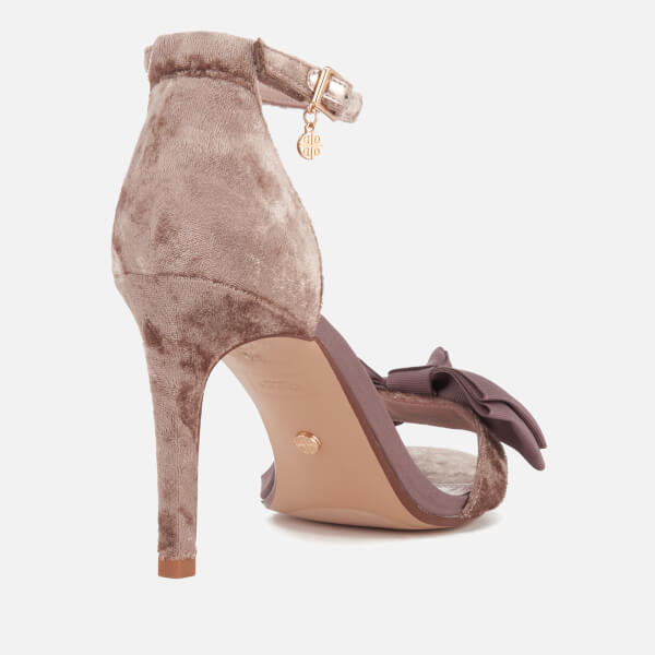 c3154e9aa53 Dune Women s Moella Velvet Bow Barely There Heeled Sandals - Mink  Image 5
