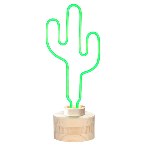 Cactus neon table lamp green traditional gifts zavvi espaa cactus neon table lamp green image 2 aloadofball Images