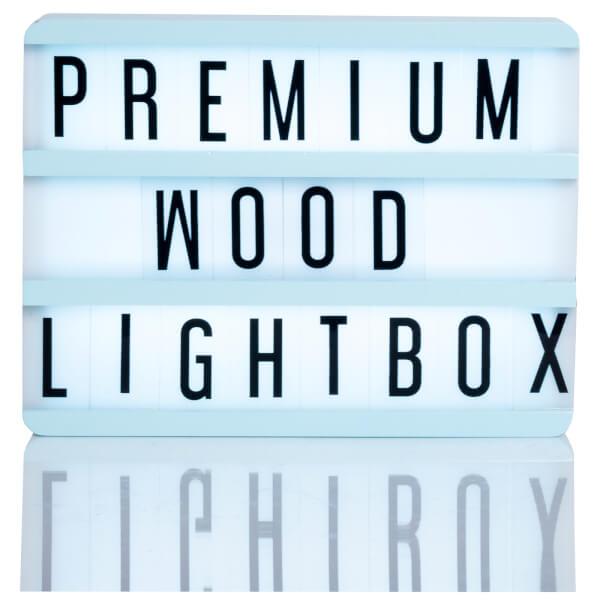 A5 Wood Cinematic Lightbox - Mint Green